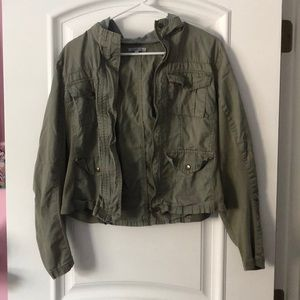 Charlotte Russe Army Green Jacket